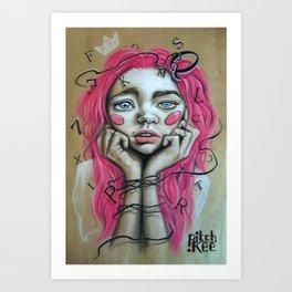 The Introvert Art Print