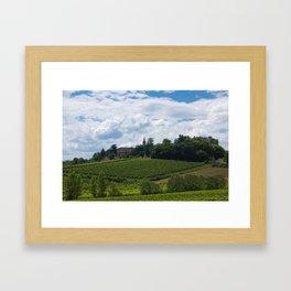 vineyards in France Framed Art Print