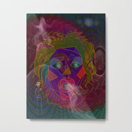 A Visit to the Shaman Mixed Media Metal Print