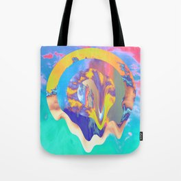 Psychedelic Clouds Tote Bag