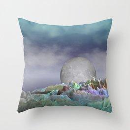 moonrise somewhere else Throw Pillow