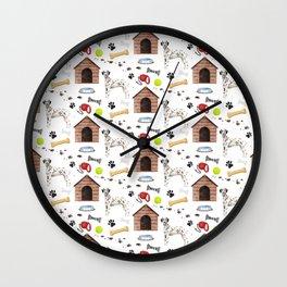 Dalmatian Half Drop Repeat Pattern Wall Clock