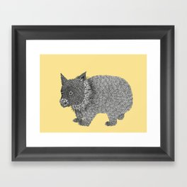 Little Wombat Framed Art Print