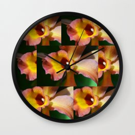 Floral Art - Intimate Orchid 3 - Sharon Cummings Wall Clock