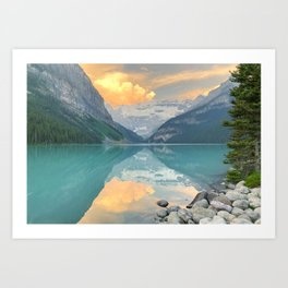 Lake Louise Sunrise Art Print