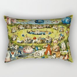 Hieronymus Bosch - The Garden Of Earthly Delights Rectangular Pillow