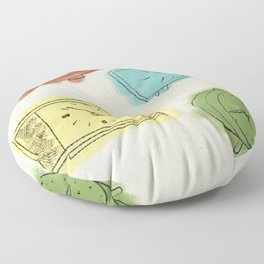 What Time Is It 1960 Floor Pillow