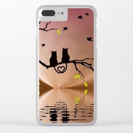 Springtime Love Clear iPhone Case