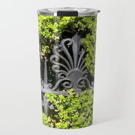 Ironwork in the Hedge Travel Mug