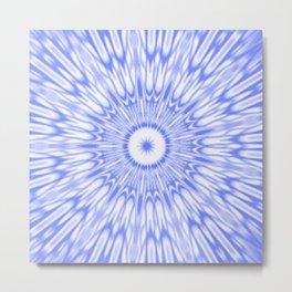 Periwinkle Kaleidoscope Metal Print