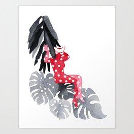 Jungle Cat Woman Art Print