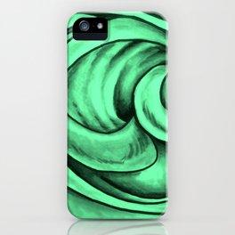 Swirl Circle (green) iPhone Case