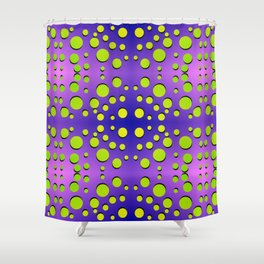 Polka dots in formation Shower Curtain