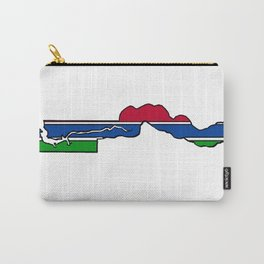 The Gambia Map with Gambian Flag Carry-All Pouch