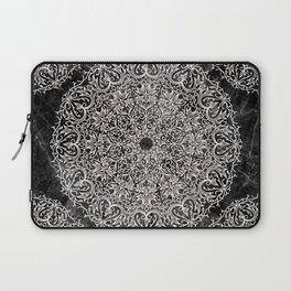 MANDALA ON BLACK MARBLE Laptop Sleeve