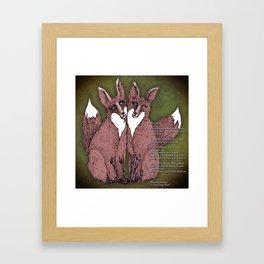 Two Foxes - B Framed Art Print