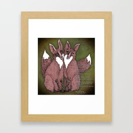 Two Foxes - B Framed Art Print