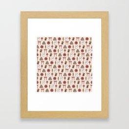 Japanese pattern Framed Art Print