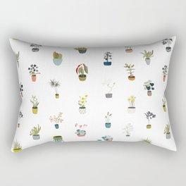 plants in pots Rectangular Pillow