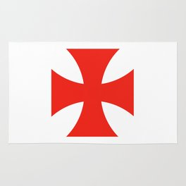 templar knights cross Rug