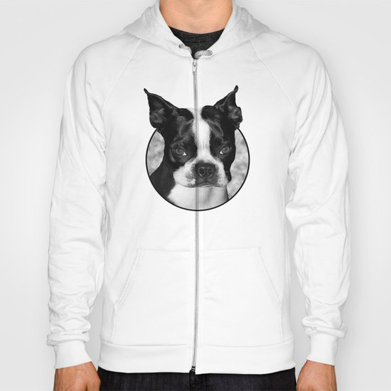 Boston Terrier Head Shot Hoody