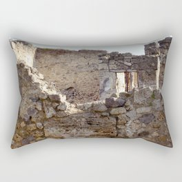 Pompeii Ancient Dwelling - 1 Rectangular Pillow