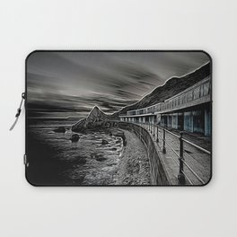 Meadfoot Beach Huts - Digital Laptop Sleeve