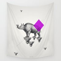 psychology Wall Tapestries featuring Archetypes Series: Solitude by Attitude Creative