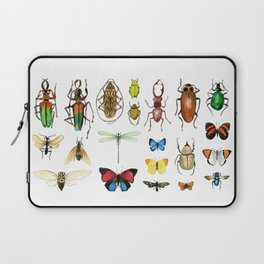 The Usual Suspects - insects on white Laptop Sleeve