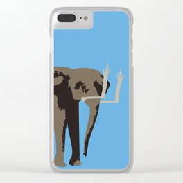 Angry Elephant Clear iPhone Case