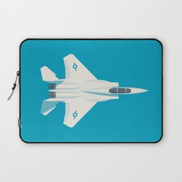 F15 Eagle Supersonic Jet Aircraft - Cyan Laptop Sleeve