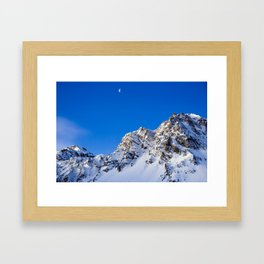 Beautiful Mountain with snow view Framed Art Print
