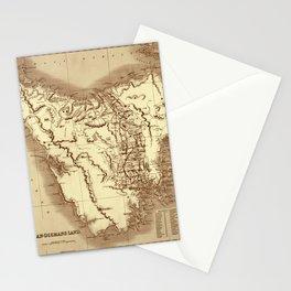 Map Of Tasmania 1832 Stationery Cards