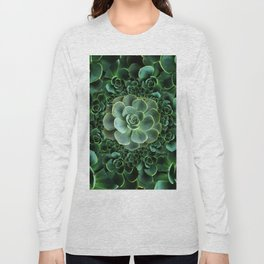 ORNATE JADE & DARK GREEN SUCCULENT  GARDEN Long Sleeve T-shirt