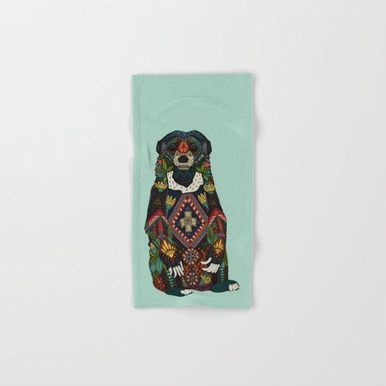 sun bear mint Hand & Bath Towel