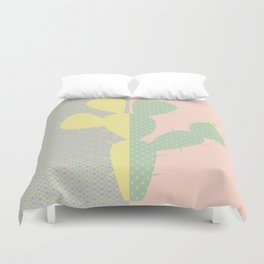Cactus and Patterns Duvet Cover