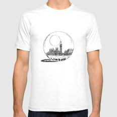 London in a glass ball Mens Fitted Tee SMALL White