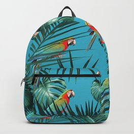 Parrots in the Tropical Jungle #1 #tropical #decor #art #society6 Backpack