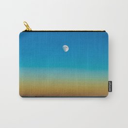 Moon Rising Over Chicago's North Shore Carry-All Pouch