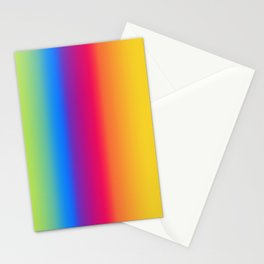 Ombre Bright Colors 1 Reversed Stationery Cards
