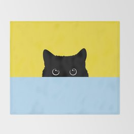 Kitty Throw Blanket
