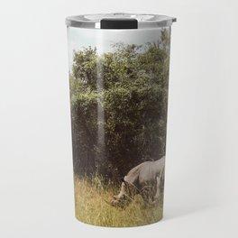 Rhinos eatin n chillin in Uganda Travel Mug
