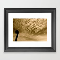Kansas Sky Framed Art Print