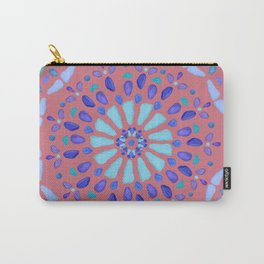 Sea Glass Mosaic Sun Burst Coral Carry-All Pouch