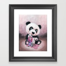 Candie and Panda Framed Art Print