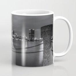 Norfolk Skyline II in Black and White Coffee Mug