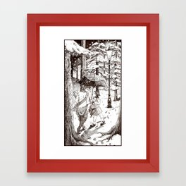 The Lion, the Witch and the Wardrobe Framed Art Print