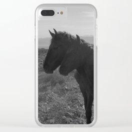 Desert Horses Clear iPhone Case