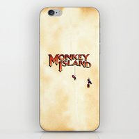 monkey island iPhone & iPod Skins featuring Monkey Island - Treasure found! by Sberla