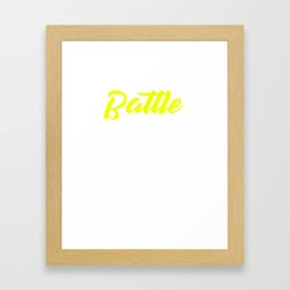 Its A Battle Thing Last Name Surname Pride Framed Art Print